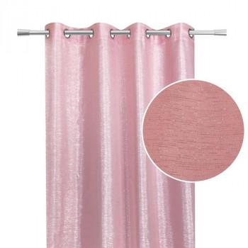 Rideau tissu pailleté rose