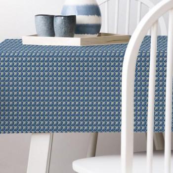 Sous nappe imprimé géométrique bleu 140 cm