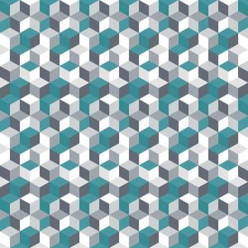 Toile cirée imprimé géométrique bleu canard 160 cm