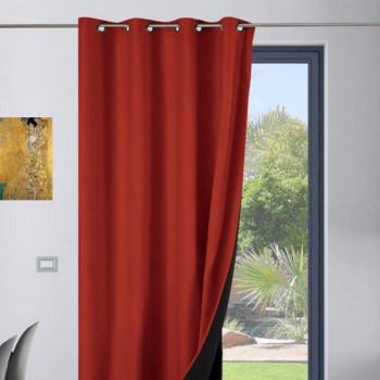 Rideau toile isolant thermique rouge