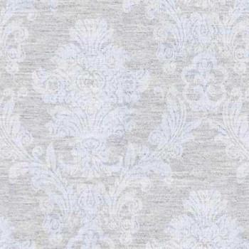 Tissu enduit motif baroque gris 160 cm