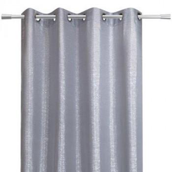 Rideau tissu pailleté gris