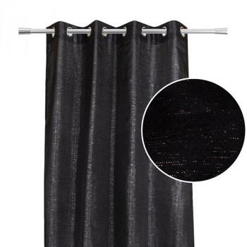 Rideau tissu pailleté noir