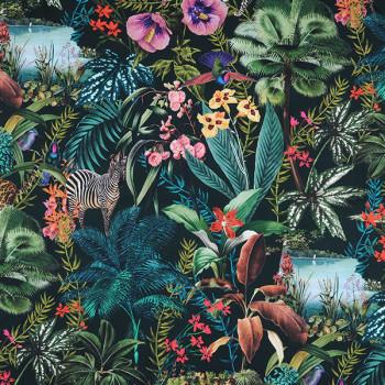 Tissu bachette jungle vert 140 cm