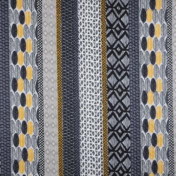 Tissu coton ethnique gris Oekotex 160 cm