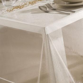 Nappage cristal transparent pailleté 160 cm