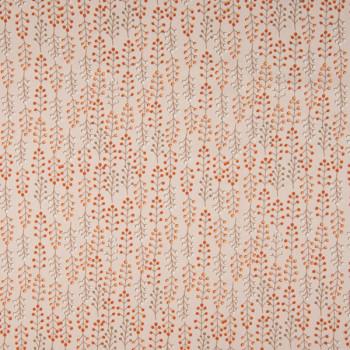 Tissu popeline coton bio imprimé guirlande rose 150 cm