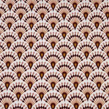 Tissu toile éventail rose Oekotex