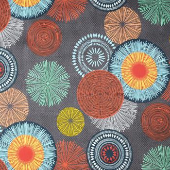 Tissu sergé oekotex mandala multicolor
