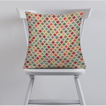 Tissu jacquard géométrique multicolor 140 cm