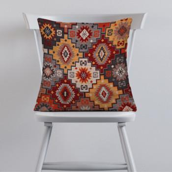 Tissu jacquard ethnique rouge 140 cm