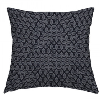 Tissu jacquard géométrique noir 140 cm