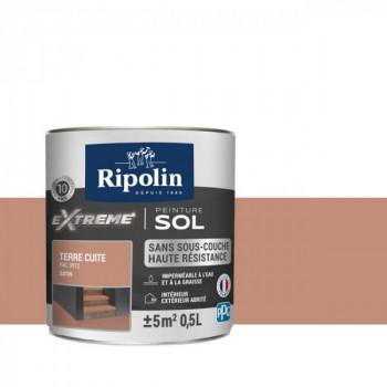 Peinture Ripolin extreme sol terre cuite satin 0,5 L