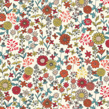 Tissu cretonne liberty multicolor 160 cm
