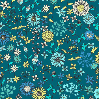 Tissu cretonne liberty bleu 160 cm