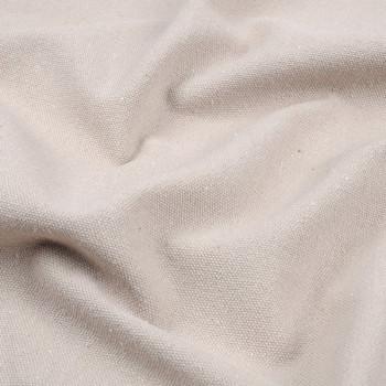 Tissu toile coton Oekotex beige 140 cm