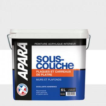 Peinture Apra sous-couche spéciale plâtre et carreaux de plâtre 6 L