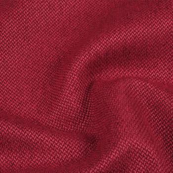 Tissu toile chiné coton Oekotex rouge 145 cm