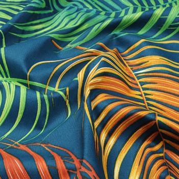 Tissu enduit végétal vert 155 cm