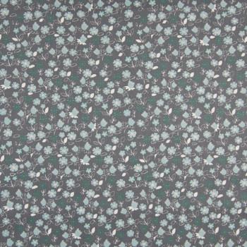 Tissu popeline liberty gris 150 cm
