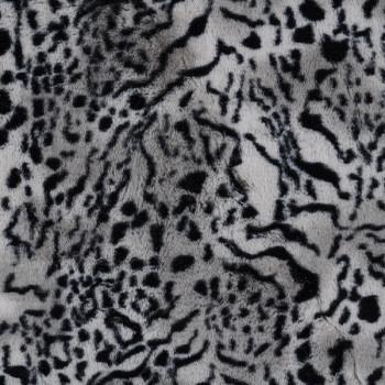 Tissu fausse fourrure tigre gris 150 cm