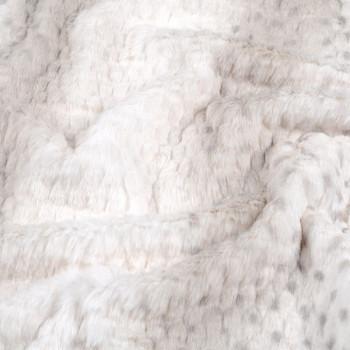 Tissu fausse fourrure uni beige 150 cm