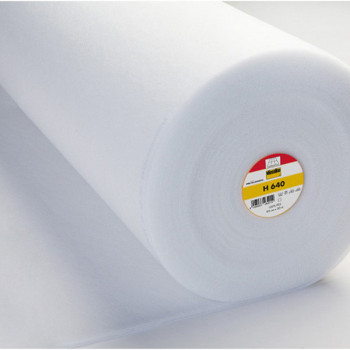 Tissu molleton thermocollant 135G blanc 90 cm