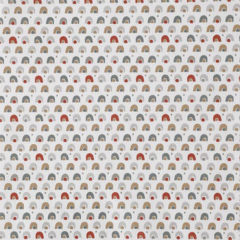 Tissu cretonne petits motifs gris 150 cm