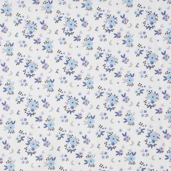 Tissu cretonne liberty bleu 150 cm