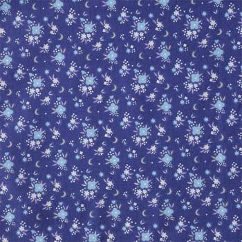 Tissu cretonne liberty bleu marine 150 cm