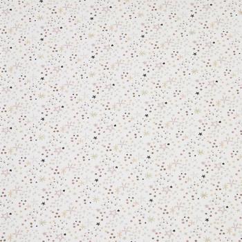 Tissu cretonne étoile blanc 150 cm