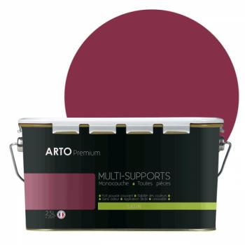 Peinture arto premium multi - supports murs, plafonds, boiseries, plinthes et radiateurs rose kiss satin 2,5 L