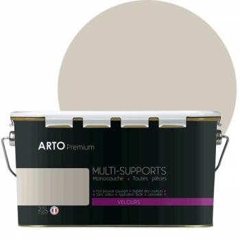 Peinture arto premium multi - supports murs, plafonds, boiseries, plinthes et radiateurs brun tanne velours 2,5 L