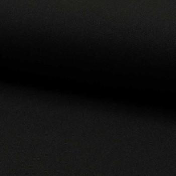 Tissu Burlington uni noir 150 cm