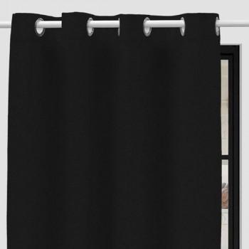 Rideau tissu noir chiné