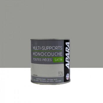 Peinture Apara multi-supports  Murs, plafonds, boiseries, plinthes... gris mandarin satin 0,5L