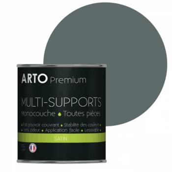 Peinture arto premium multi-supports murs, plafonds, boiseries, plinthes et radiateurs polaire satin 0,5 L
