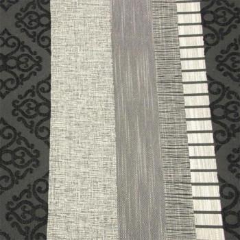 Tissu velours fantaisie noir gris 140 cm