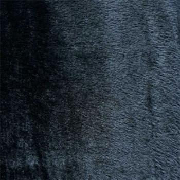 Tissu fausse fourrure noir 140 cm
