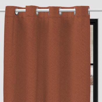 Rideau tissu orange safran