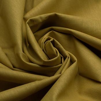 Tissu toile coton Oekotex moutard 150 cm
