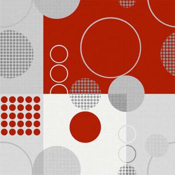 Sous-nappe imprimé géométrique rouge 140 cm