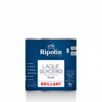 Laque glycéro ripolin multi-supports blanc brillant 0,5L