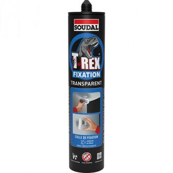 Cartouche colle T-REX Fixation Transparent