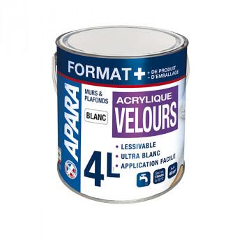 Peinture blanc velours 4L