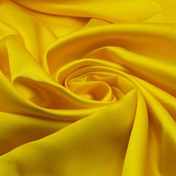 Tissus satin uni jaune 140 cm