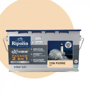 Peinture Ripolin extrême façade 2 en 1 pierre mat 2,5L