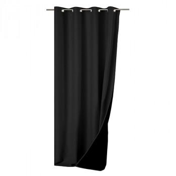Rideau toile isolant thermique uni noir