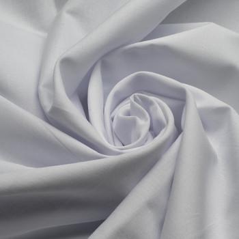 Tissu voile de coton blanc 140 cm