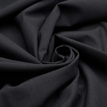 Tissu voile de coton noir 140 cm